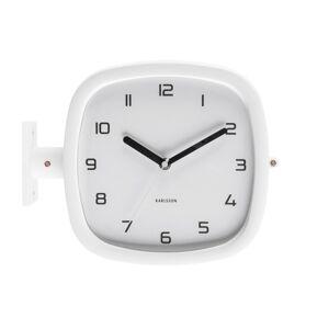 Karlsson KA5831WH oboustranné nástěnné hodiny
