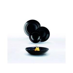 Luminarc 18dílná jídelní souprava ALEXIA, černá